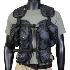 Tactical Assault Vest Black Many Pockets One Size Fits All