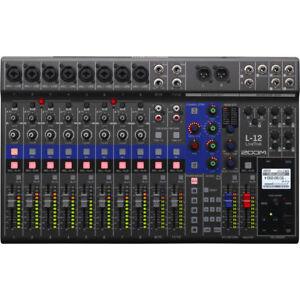 Like-N-E-W-Zoom-LiveTrak-L-12-Digital-Mixer-Auth-Dealer-Open-Box-Never-Used