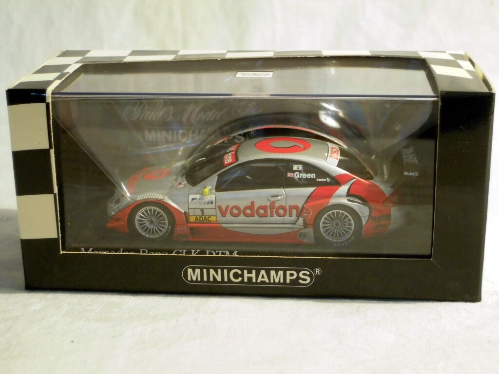 Minichamps 400023291  MERCEDES CLK, BRDC Award 2002,  1 J. verde, NUOVO & OVP