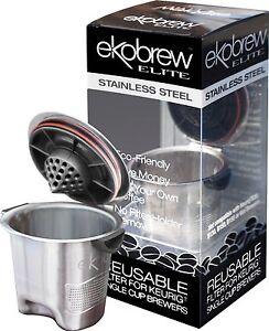 Ekobrew Elite Stainless Steel Reusable K Cup For Keurig Single Cup
