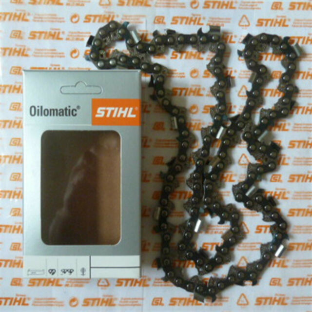 "16"" 40cm Genuine Stihl Chainsaw Chain RS3 3/8"" 1.6mm .063"" 60 DL Tracked Post"