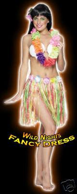 70/'S FANCY DRESS ACCESSORIES # HAWAIIAN HULA SKIRT 46CM