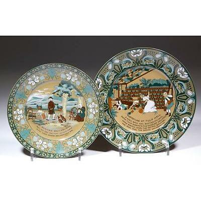 8. BUFFALO POTTERY DELDARE EMERALD DR. SYNTAX PLATES, LOT OF TWO Lot 8