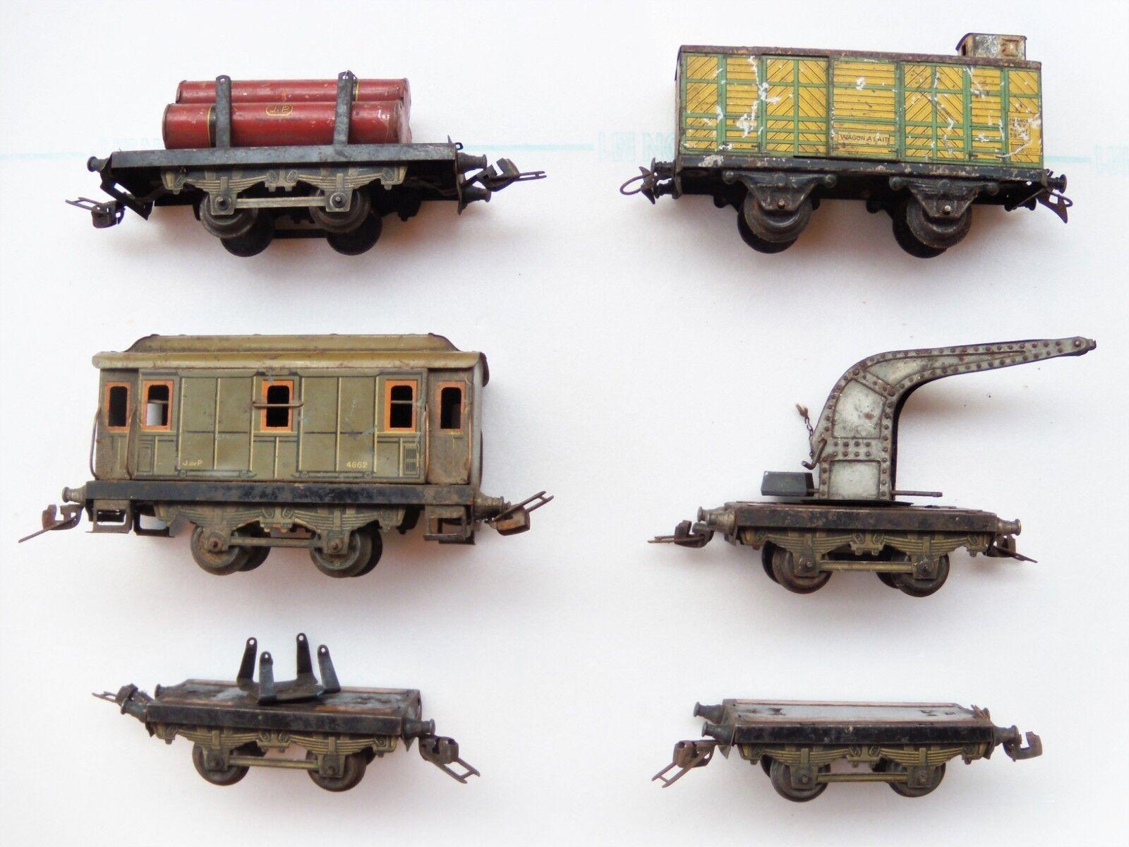 Lot de 6 wagons JdeP (JEP) et Hornby échelle O