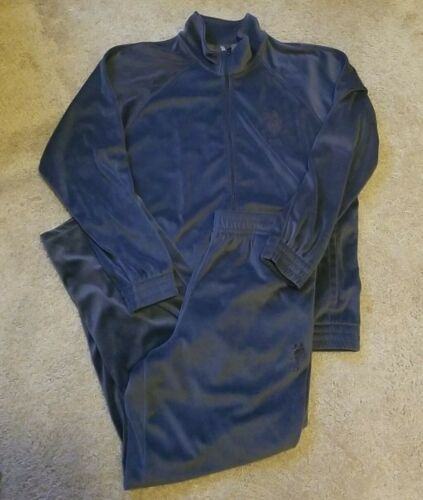 Mens vintage Polo velour gray tracksuit, jogging s