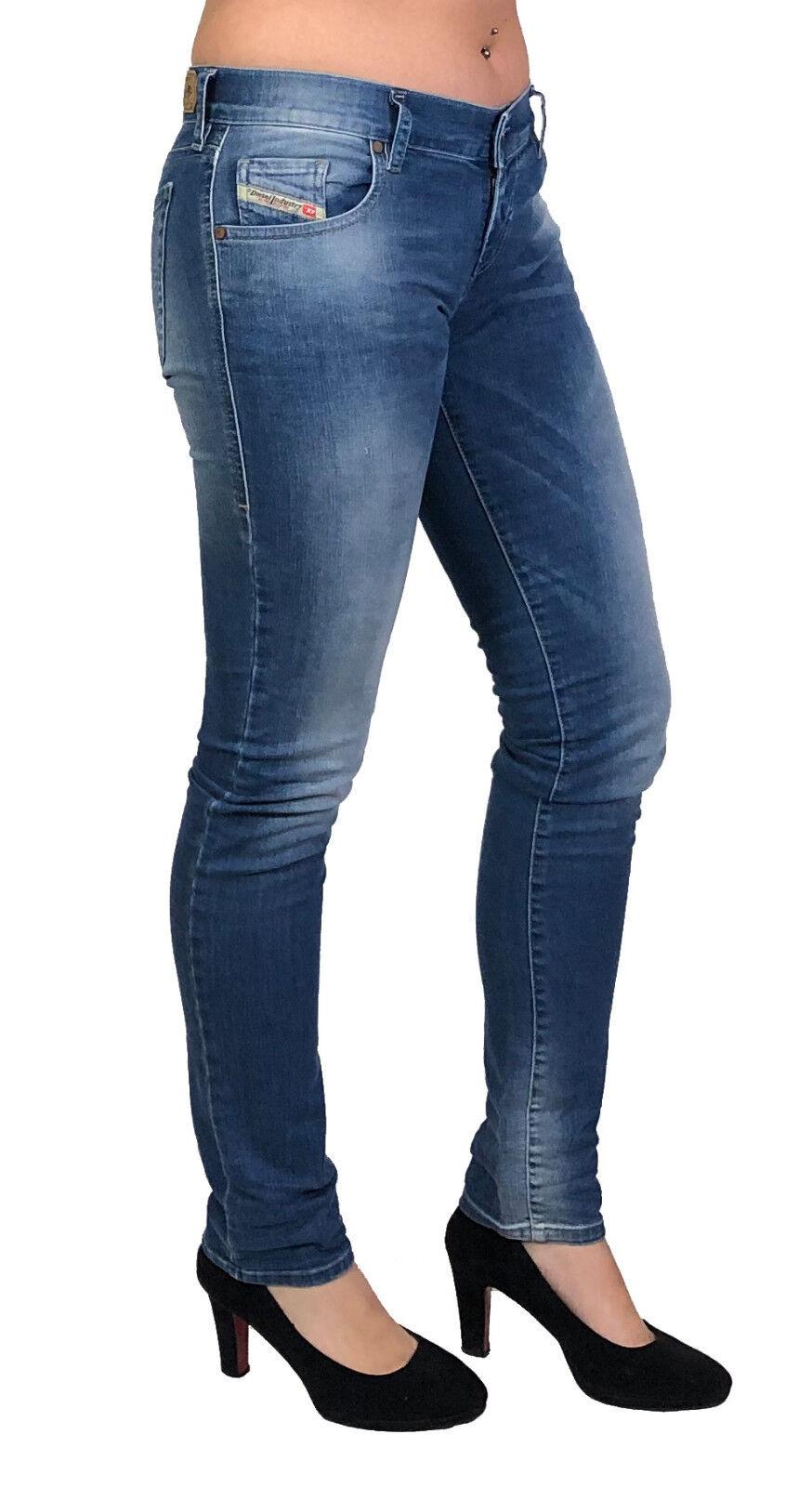 Diesel Damen Stretch Jeans GRUPEE 0670K Superslim Skinny blau Gr. 24 32 NEU
