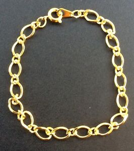 1x-GOLD-PLATED-LINK-BRACELET-CHAIN