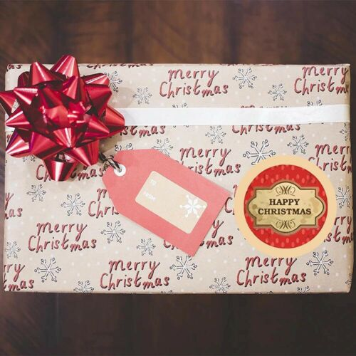 Packaging Christmas Stickers Adhesive Label Seal Sticker Pretty Things Inside