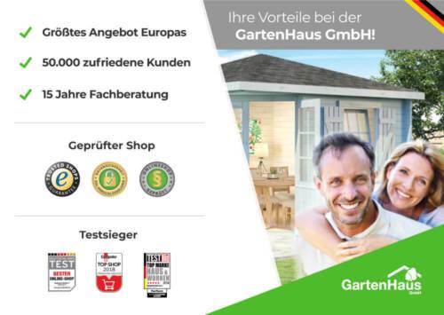 Gartenhaus Modell Korfu 28 Holz 260x200cm Pultdach Geräteschuppen Gerätehaus