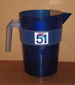 Carafe-PASTIS-51-bleue-plastique-pot-d-039-eau-pichet-pub-bar-bistrot-pitcher