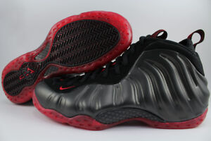 080c0e6b42e284 NIKE AIR FOAMPOSITE ONE BLACK RED COUGH DROP BRED AUTHENTIC DS 2010 ...