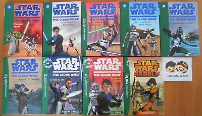 Lot 9 livres LA BIBLIOTHEQUE VERTE STAR WARS THE CLONE WARS + AVENTURES + REBELS | eBay