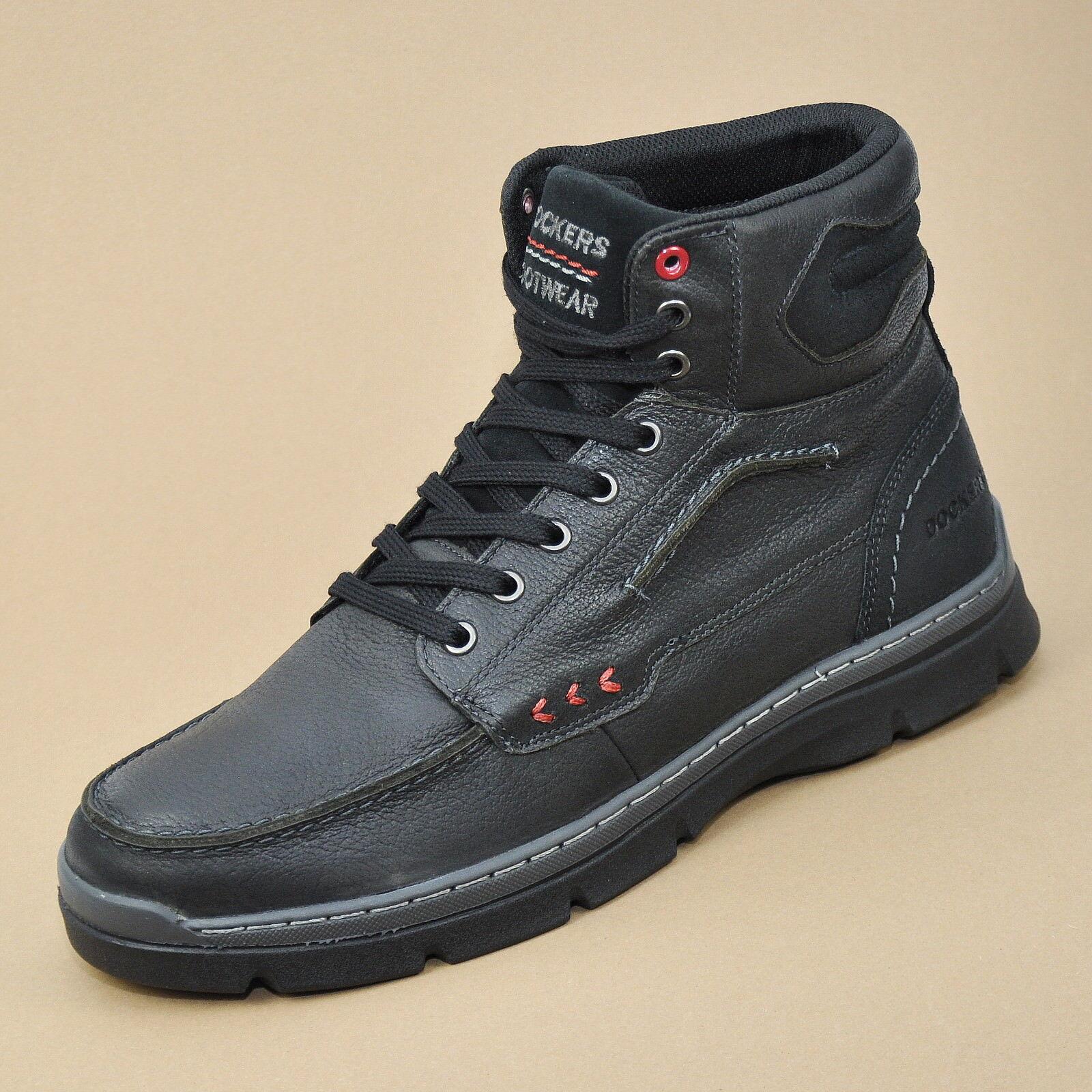 DOCKERS Herren Stiefel Leder Schuhe Stiefel Schwarz 352610-239001