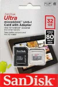 SanDisk-Ultra-micro-SDHC-UHS-I-32-GB-Speicherkarte-80MB-s-Class-10-Neu-amp-OVP