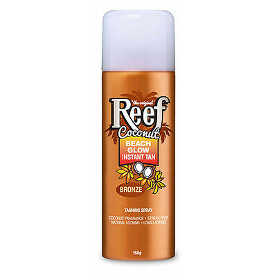 NEW Reef Tan Spray Beach Glow Instant Bronze 150g Sun Protection Sun Care