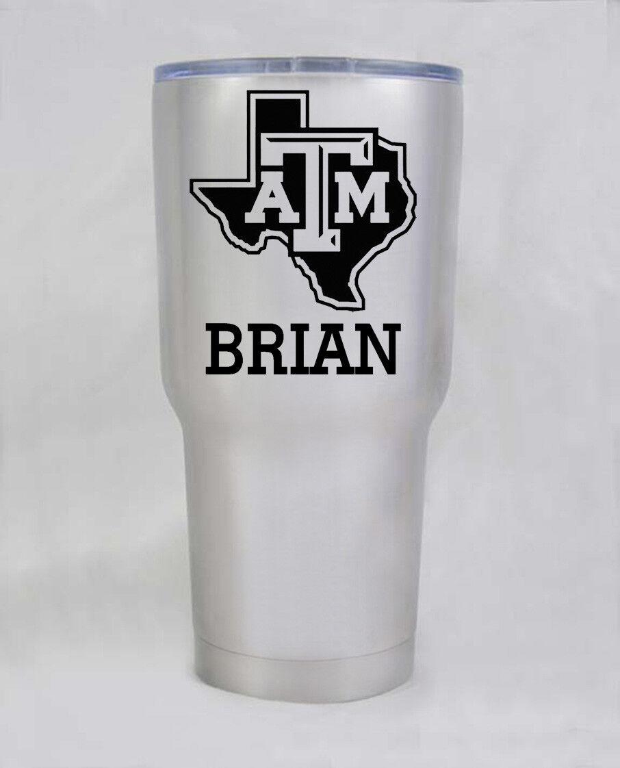 HOGG  non yeti 30 oz Texas A&M Aggies stainless  cup tumbler free shipping