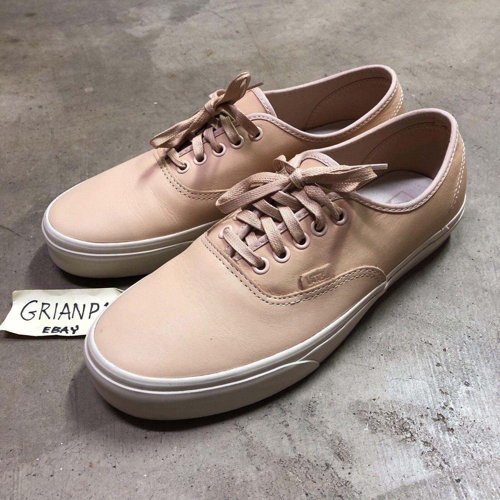 VANS Authentic DX Veggie Tan Leather shoes Mens Size 10 Worn Once FOG
