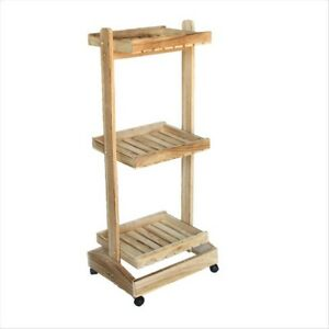 Details About Multi Use Wooden Garden Pot Planter Plant Kitchen Trolley Shelf Display Stand