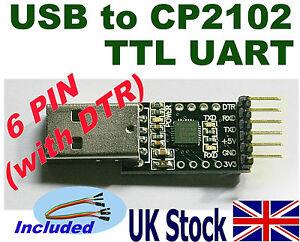 USB-to-CP2102-TTL-UART-6pin-Converter-Module-Arduino-Raspberry-Atmega-UK-Stock