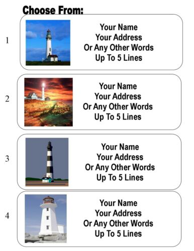 30 Lighthouse Personalized Address Labels