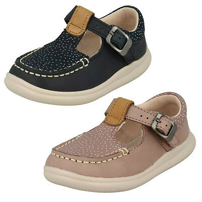 Girls Clarks Cloud Rosa Navy Or Pink