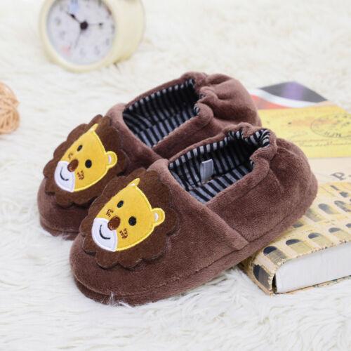 Toddler Children Kids Baby Warm Shoes Boys Girls Cartoon Soft-Soled Slippers