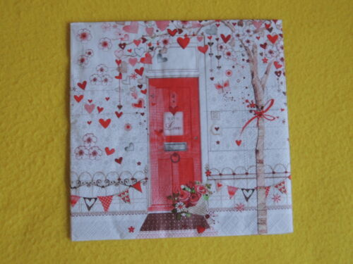 5 TOVAGLIOLI CUORE alberelli porta di casa filigranglas TOVAGLIOLI tecnica HEART TREE Tovaglioli