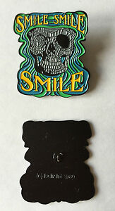 GRATEFUL-DEAD-Lapel-Pin-1980-039-s-DeadHead-SMILE-SMILE-SMILE-pin-from-Relix-Int-New