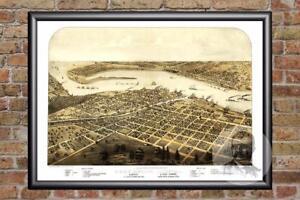 Vintage-Port-Huron-MI-Map-1867-Historic-Michigan-Art-Old-Victorian-Industrial