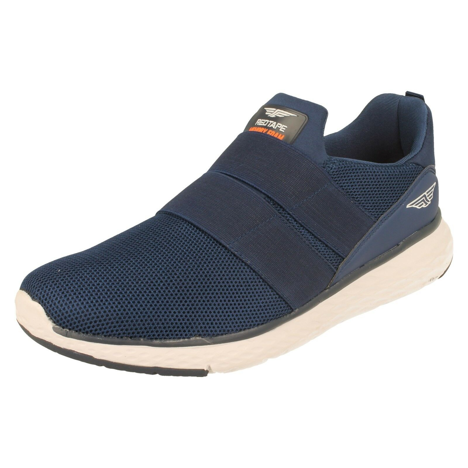 Men's Rouge Tape slip on Memory Foam Trainers-rsc0064