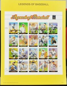 Scott-3408-US-Souvenir-Sheet-of-20-Legends-of-Baseball-MNH-2000