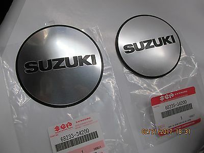 Suzuki GS650g GS650E nos ENGINE cover emblem set  81-83  68233-34200 68235-34200