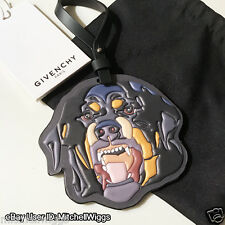 Givenchy Rottweiler Bag Charm - Large Leather Key Chain Dog - Limited Edition