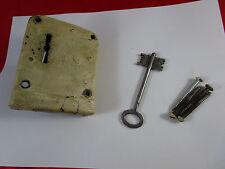 Uralt Tresorschloss + Doppel-Schlüssel Antik Stahl-Schloss Panzerschrank Tresor