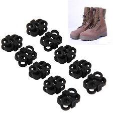 10 Pcs Plastic Rapid Shoelaces Antiskid Buckle Camping Convenient Shoes Buckle