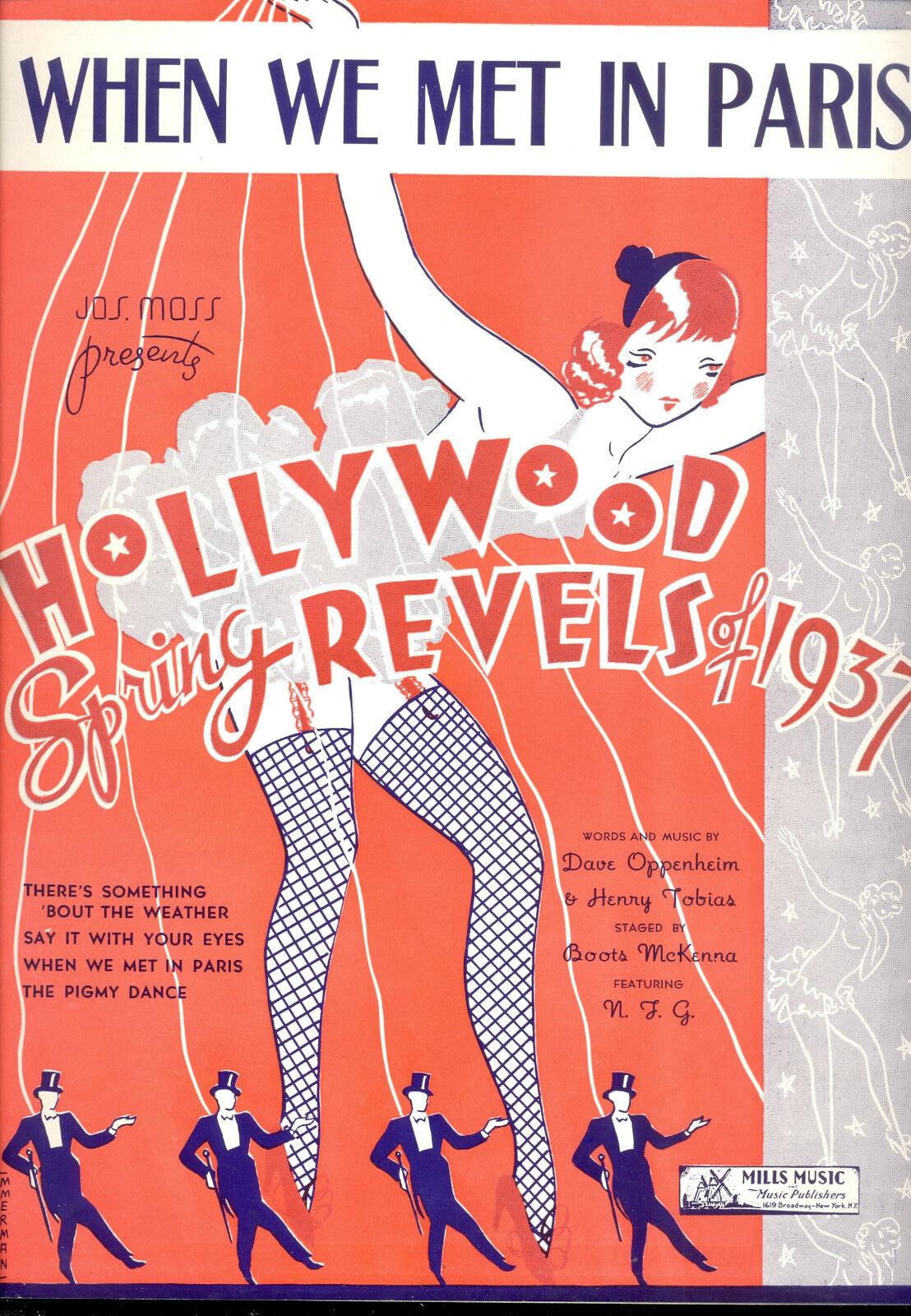 Hollywood Feder Revels '37 Broadway Show   wenn Wir Met in Paris