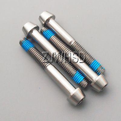4pcs M6 x 45 Titanium Ti Screw Bolt Allen Hex Socket Cap Head Aerospace Grade