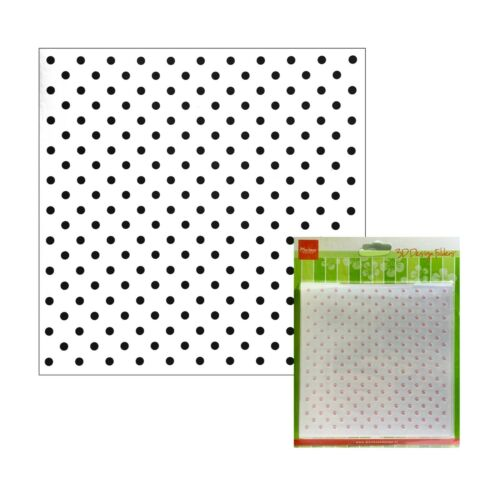 Polka Dot Embossing Folder Marianne Craft Folders Dots 6x6
