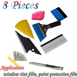 car auto window tinting tools pre cut tint film auto installation tool 8pcs kit ebay. Black Bedroom Furniture Sets. Home Design Ideas