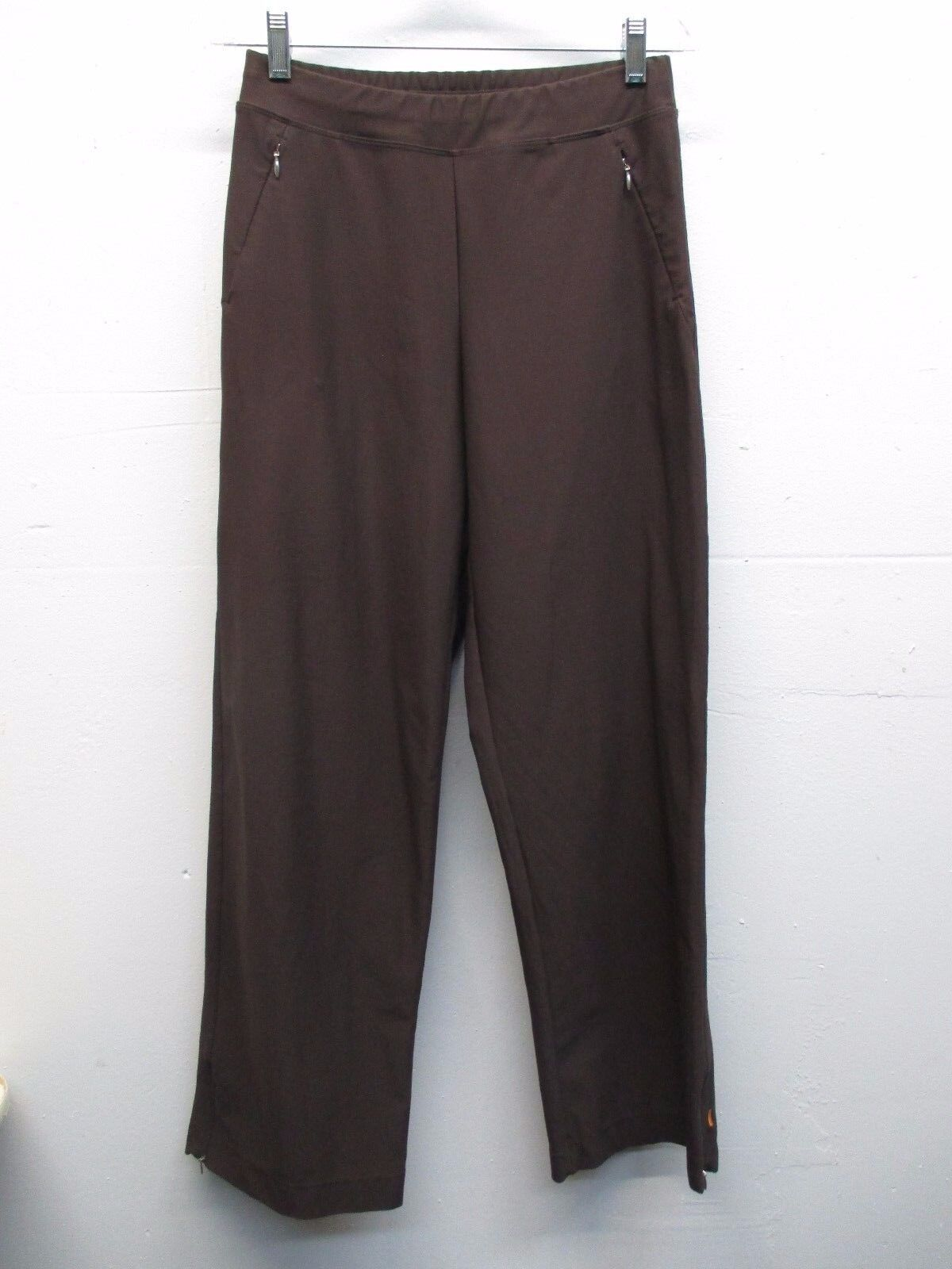 Women's Lucy brown athletic workout yoga pants size S 26 31 EUC