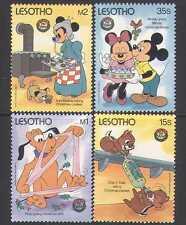 Lesotho 1986 DISNEY/Christmas/Dog/Pluto 4v set s5541b