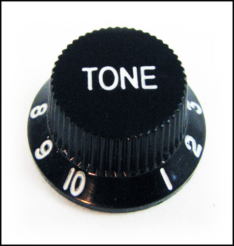 tm 2-pack Black Plastic Stratocaster -Style Electric Guitar Tone Knobs!