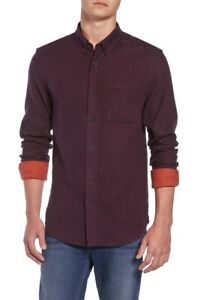 NEW-125-SCOTCH-amp-SODA-DEEP-PURPLE-DOUBLE-FACE-FLANNEL-CASUAL-SPORT-SHIRT-SZ-M