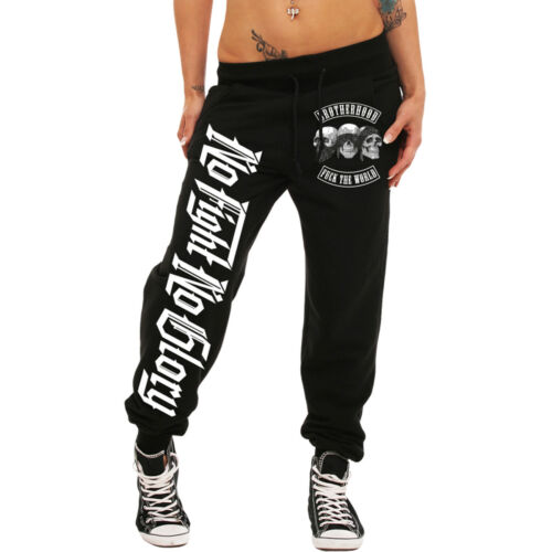 Ragazza Donne Pantaloni Jogging no Fight No Glory streetwear Gym Boxe