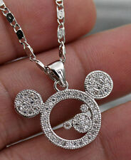 Clear Zircon Windmill Rivets Square Hollow Women Pendant 18k White Gold Filled