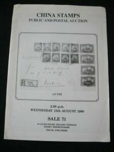 CHINA-STAMPS-AUCTION-CATALOGUE-1990-PUBLIC-AND-POSTAL-AUCTION