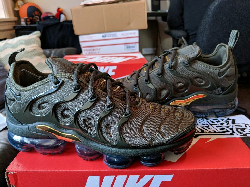 Nike Air vapormax Plus cargo Khaki Olive Sequoia 924453-300 arcilla verde VM tuned 924453-300 Sequoia Wild Casual Shoes 0e5b68
