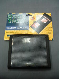 Seattle Sports Hydro Podz Water Wallet with Interior Ziploc Style Pocket Carbon
