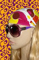 A157✪ Hippie Sonnenbrille 60er 70er Jahre Kult Hornbrille lila