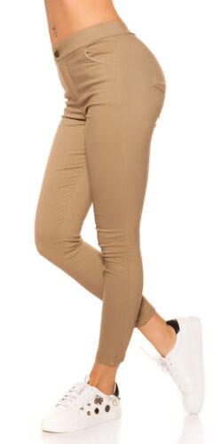donna pantaloni skinny elasticizzati slim leggings thermo colorati aderenti